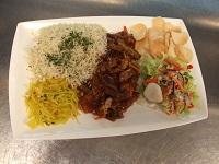 weekschotel Babi pangang met rijst